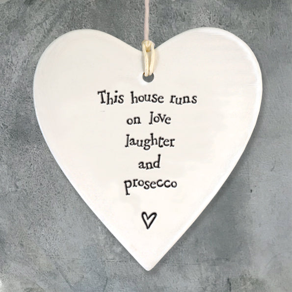Porcelain 'Love, Laughter and Prosecco' Ornament
