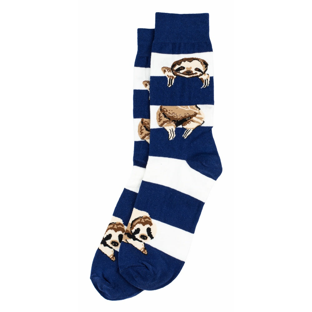 Socks Gents Stripe Sloth Made With Cotton & Spandex