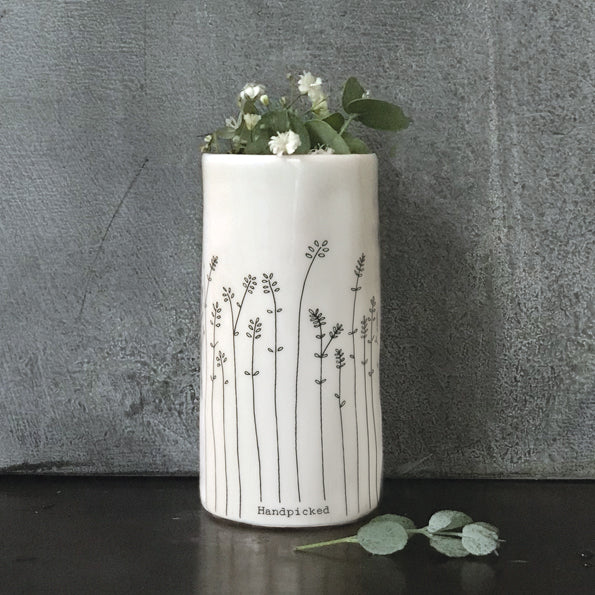 'Hand Picked' Tall Porcelain Vase