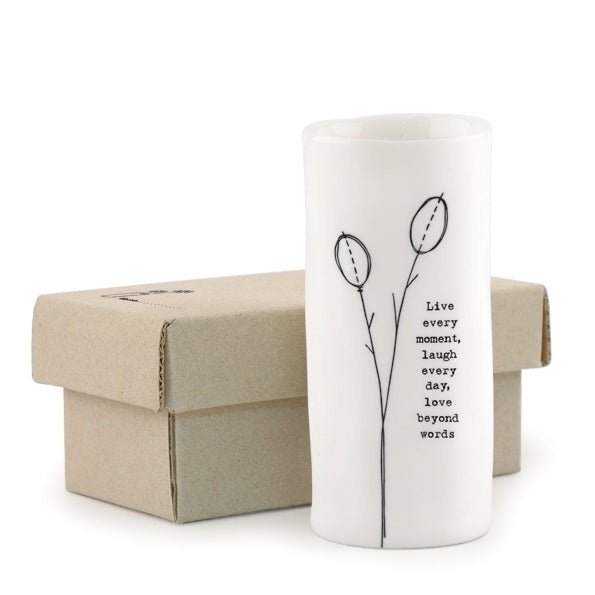 Medium Porcelain Vase - Live Every Moment