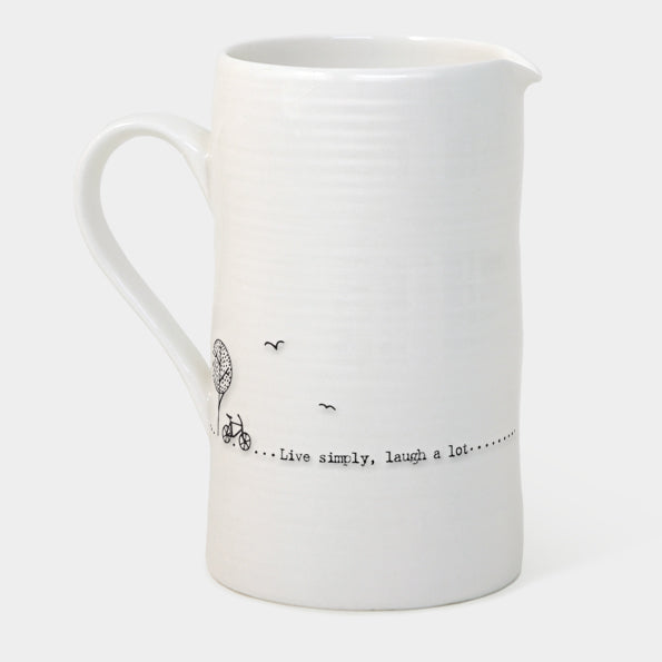 Large Jug 'Live simply, laugh a lot'