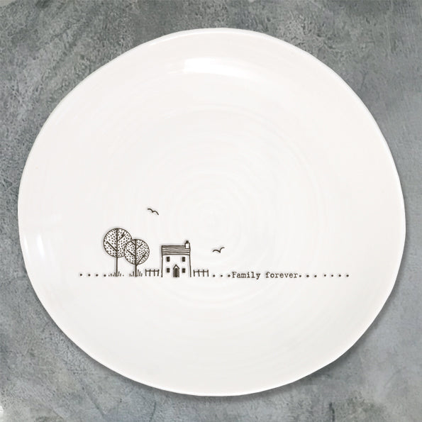 Wobbly Plate 'Family Forever'