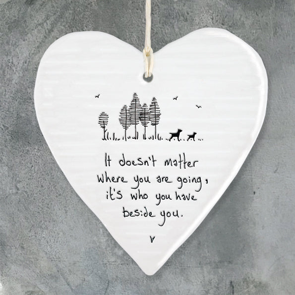 Porcelain 'Where You Are Going' Ornament