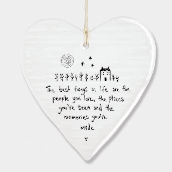 Porcelain 'Best Things In Life' Ornament