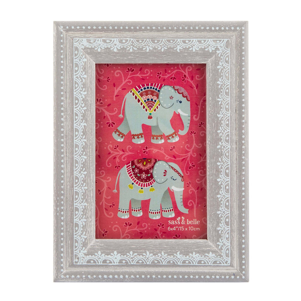 Mandala Elephant Henna Pattern Photo Frame