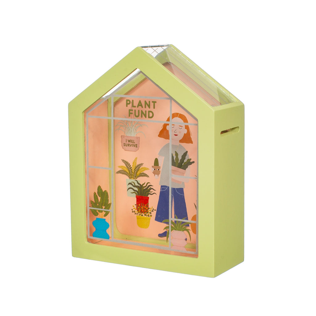 Money Box Green House Plant Fund