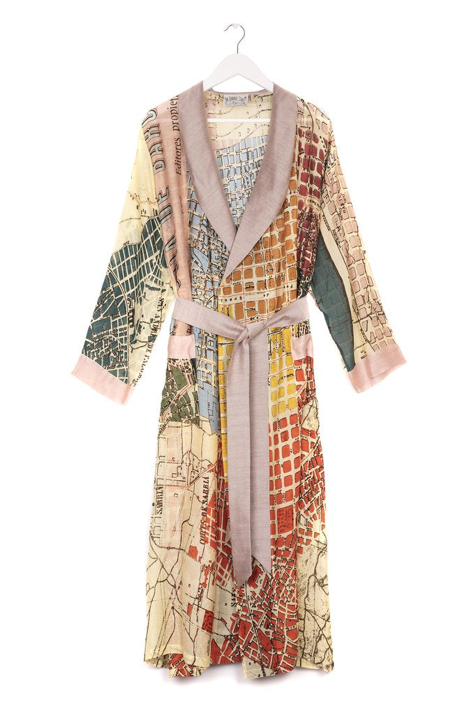 One Hundred Stars Barcelona Map Dressing Gown