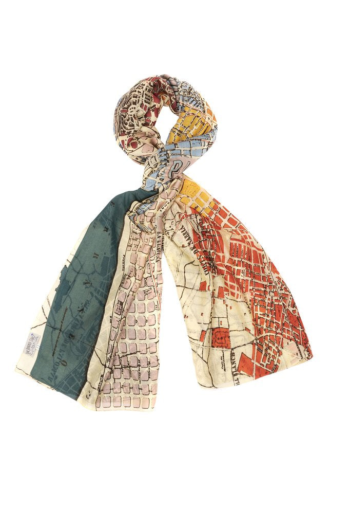 One Hundred Stars Barcelona Map Scarf