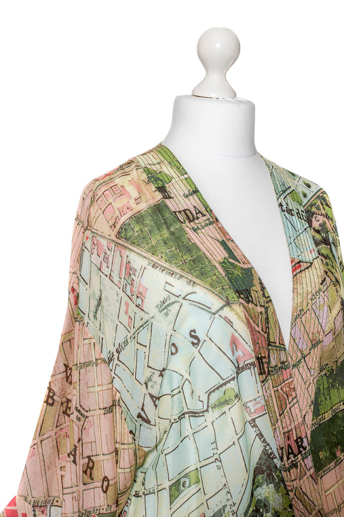 One Hundred Stars Budapest Map Kimono