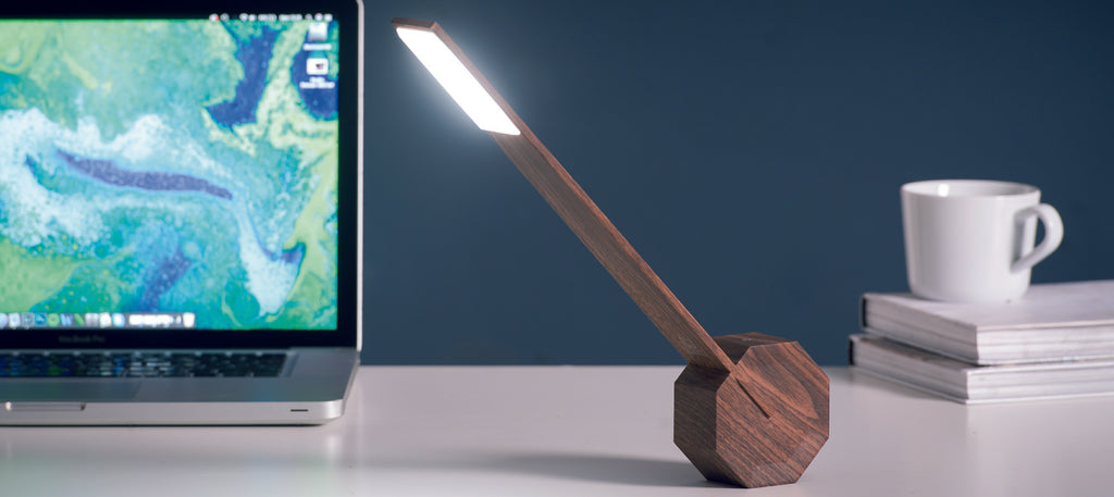 Octagon One DeskLight - Walnut