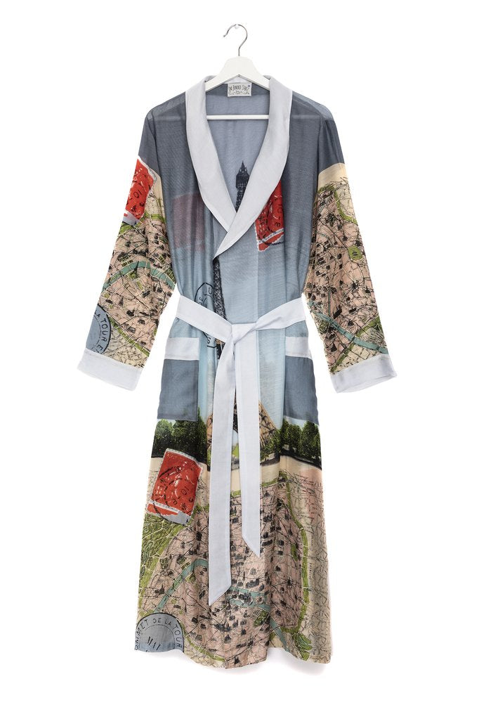 One Hundred Stars Eiffel Tower Dressing Gown