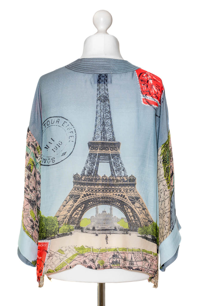 One Hundred Stars Eiffel Tower Kimono