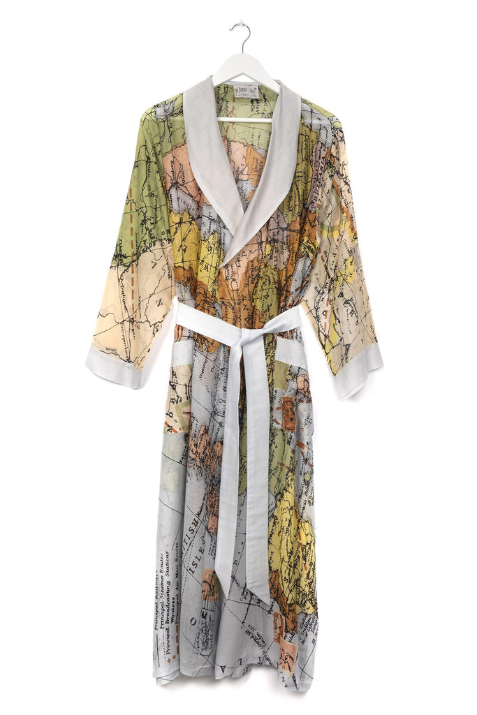 One Hundred Stars Europe Map Dressing Gown