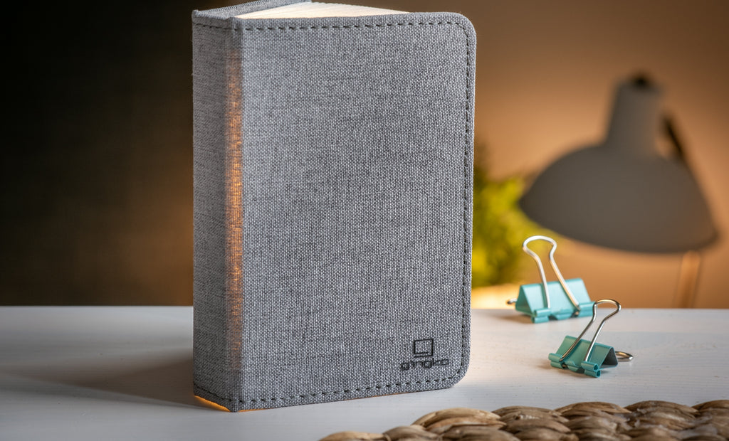 Light Book Fabric Grey