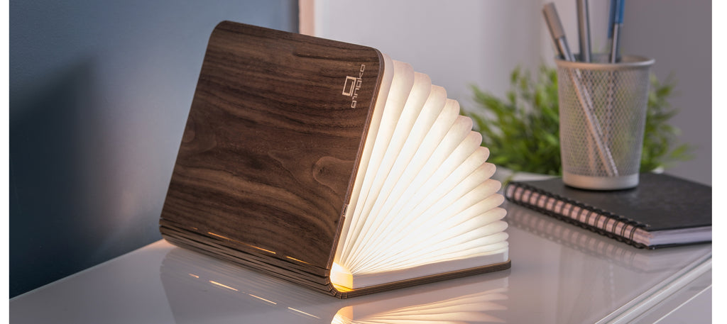 Large Walnut Smart BookLight
