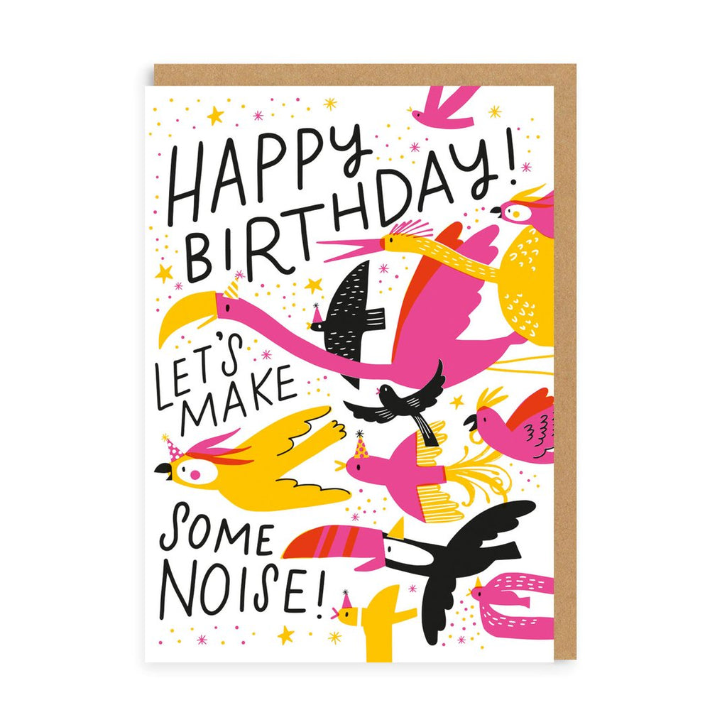 Card Happy Birthday Let's Make Noise