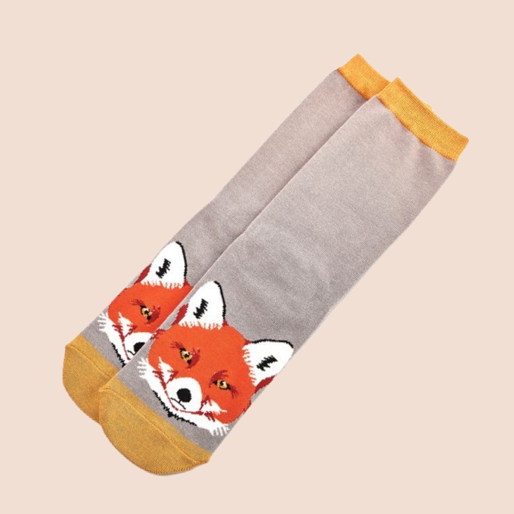 Miss Sparrow Fox Socks Grey