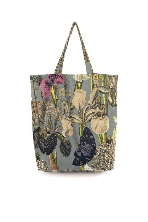 One Hundred Stars & Kew Passion Flower Tote Bag Grey
