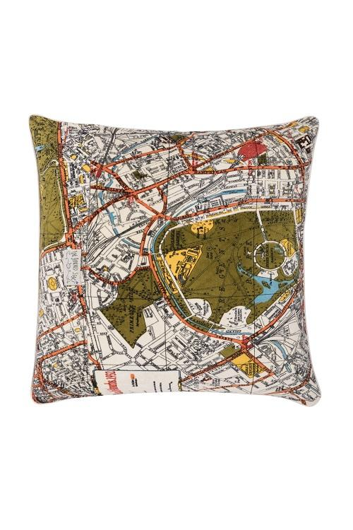 One Hundred Stars London Map Cushion