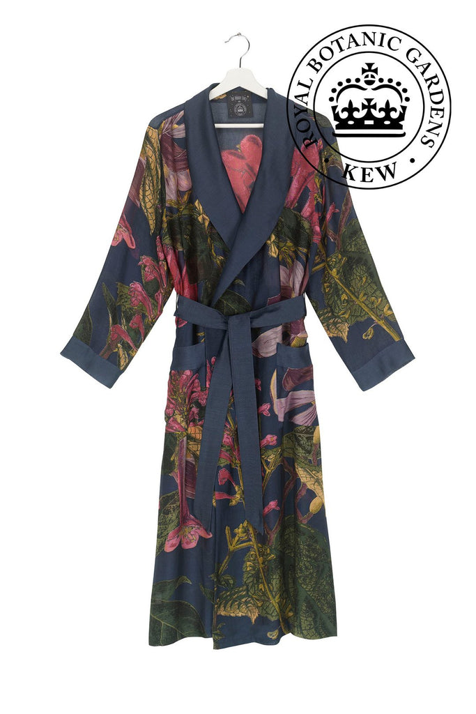 One Hundred Stars & Kew Dressing Gown Magnolia Blue