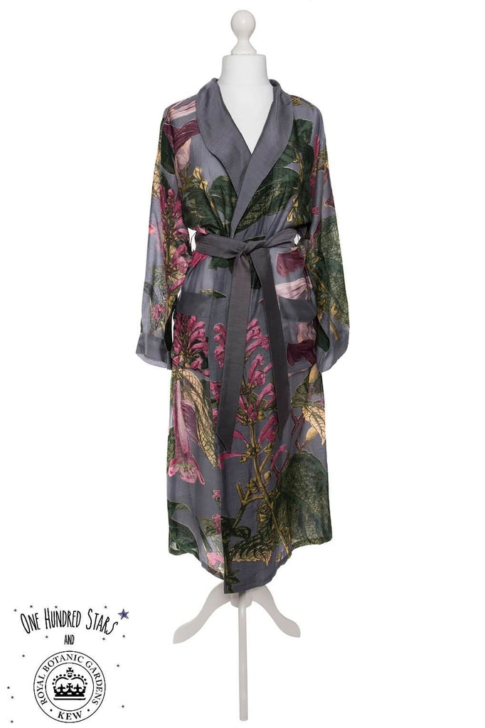 One Hundred Stars & Kew Magnolia Dressing Gown Grey