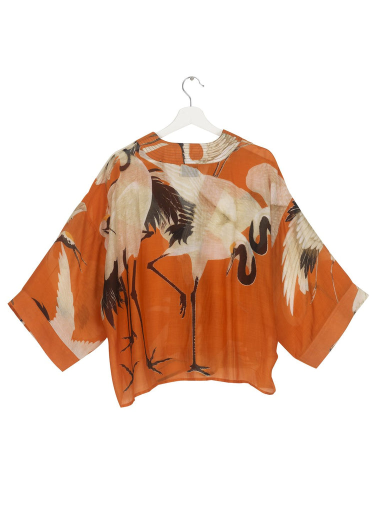 One Hundred Stork Kimono Orange