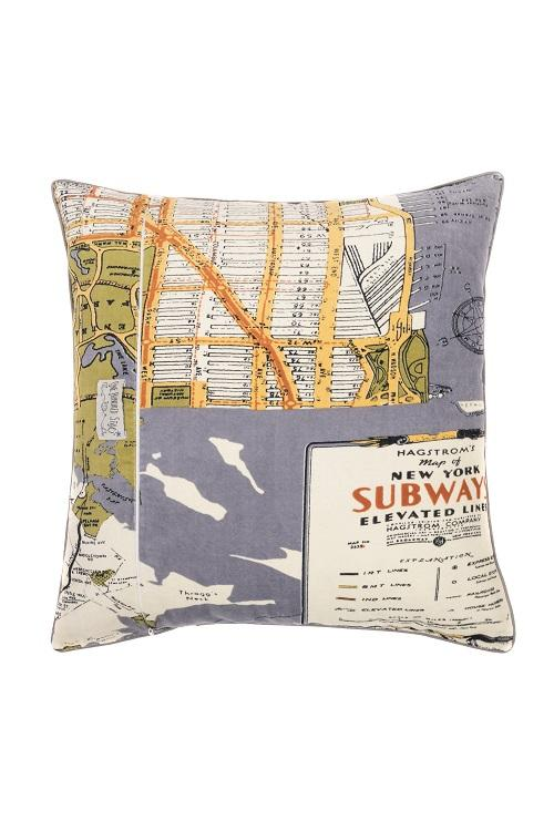 One Hundred Stars New York Map Cushion