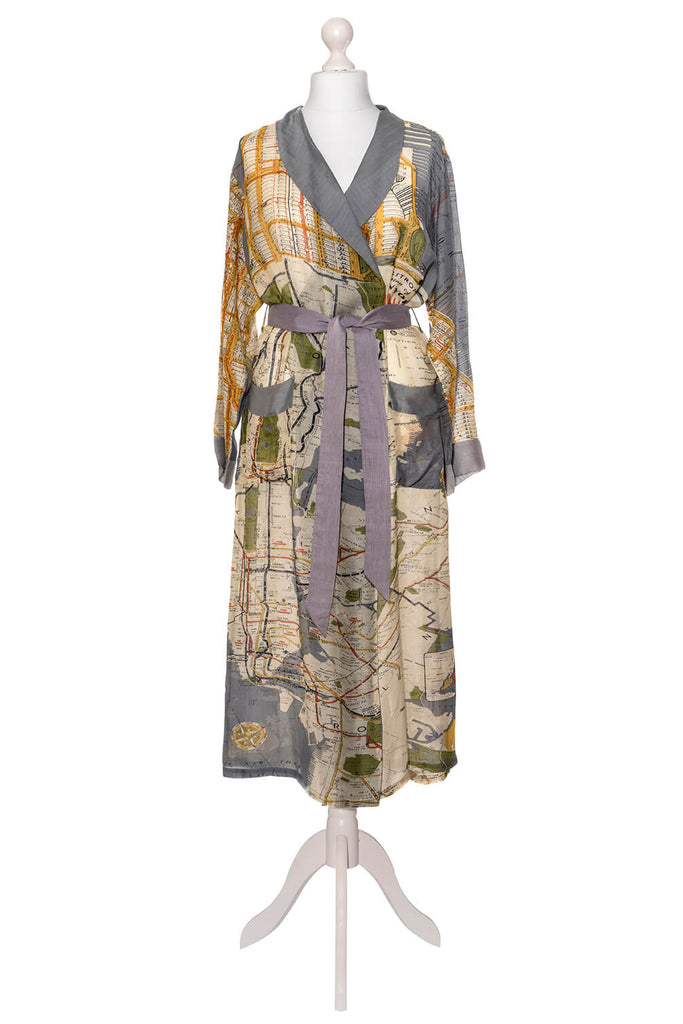 One Hundred Stars New York Map Dressing Gown