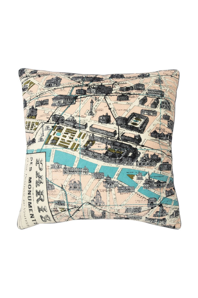 One Hundred Stars Paris Map Cushion