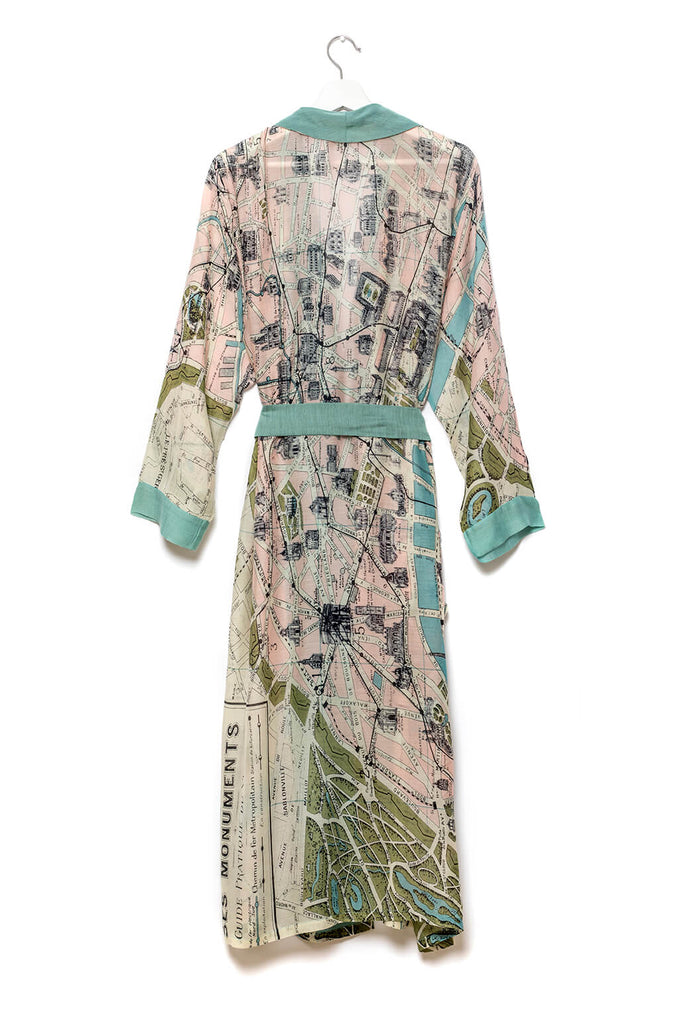 One Hundred Stars Paris Map Dressing Gown back 2
