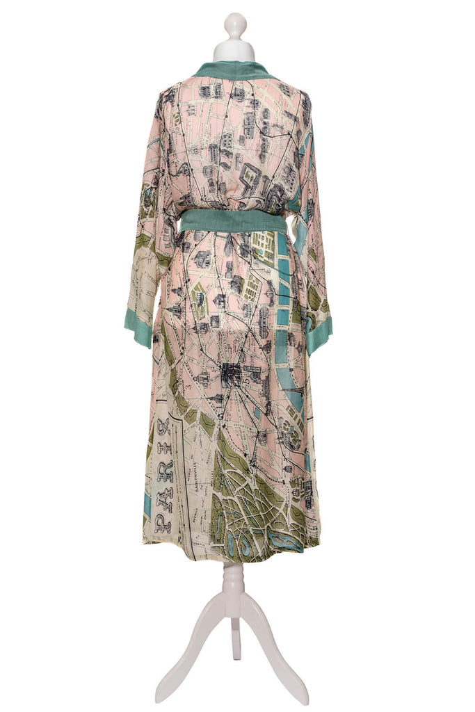 One Hundred Stars Paris Map Dressing Gown back
