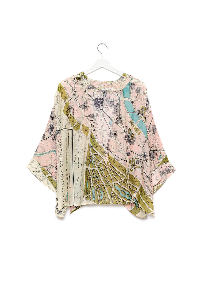One Hundred Stars Paris Map Kimono