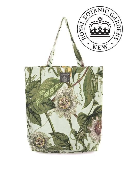 One Hundred Stars & Kew Passion Flower Tote Bag Aqua