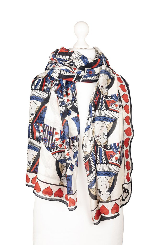 One Hundred Stars Queen of Hearts Scarf