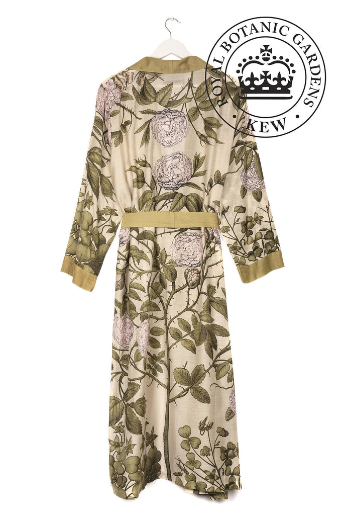 One Hundred Stars & Kew Rose Bush Dressing Gown Pink