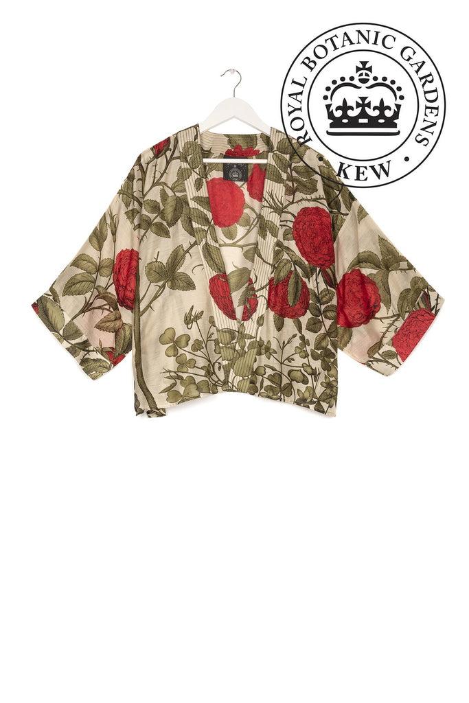 One Hundred Stars Rose Bush Kimono Red