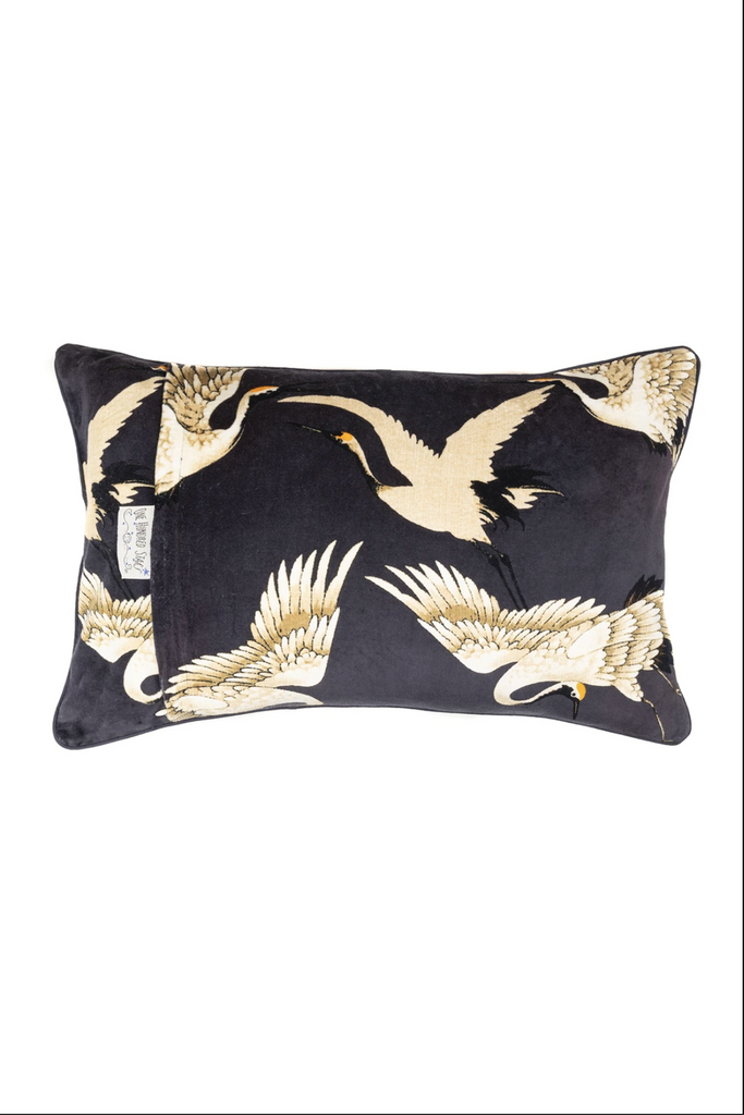 One Hundred Stars Stork Charcoal Cushion