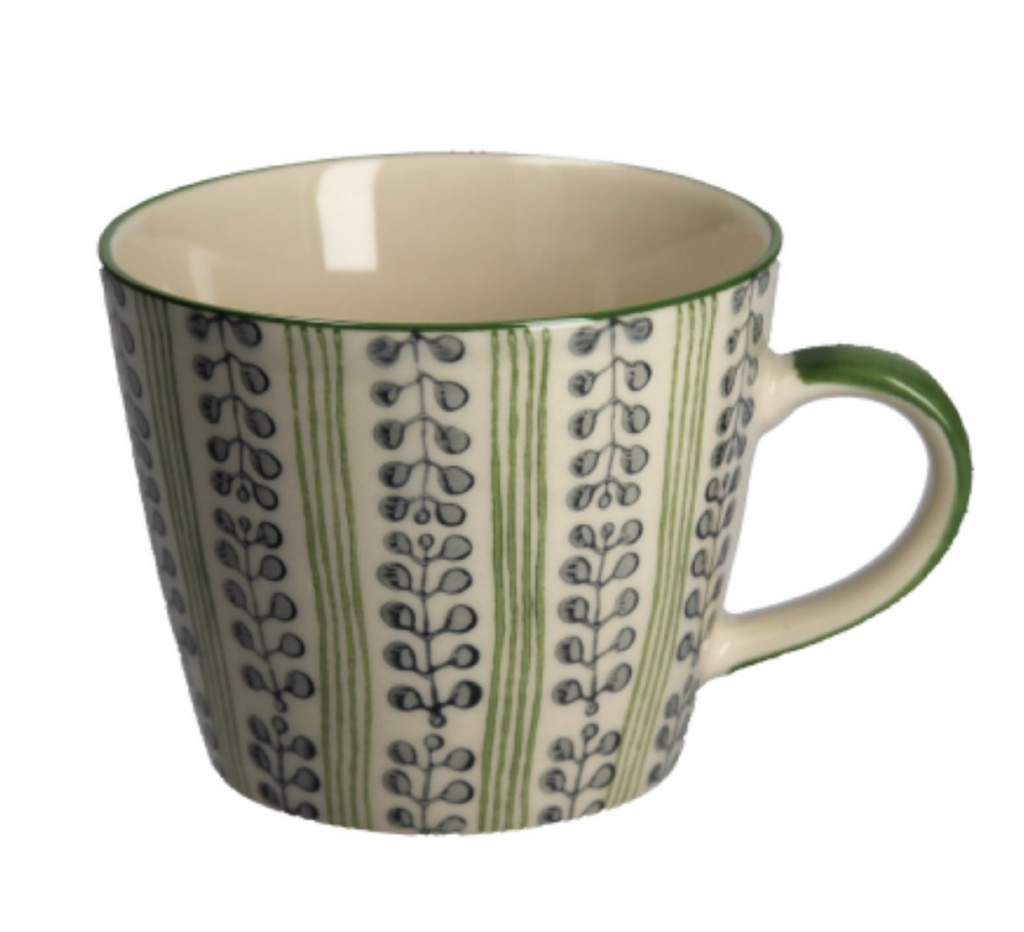Berry Stripe Green Mug