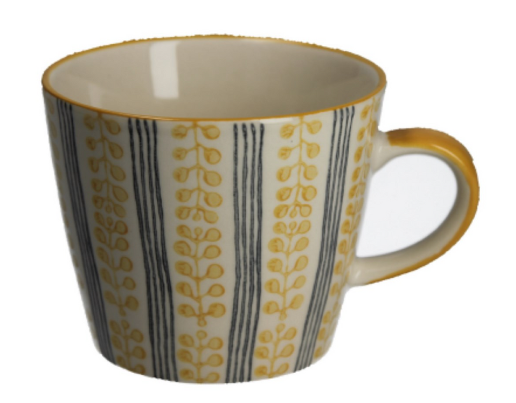 Mustard Berry Stripe Mug