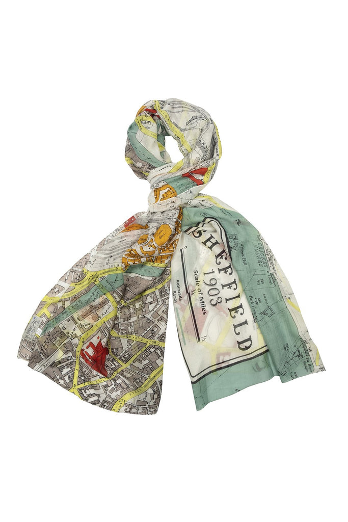 One Hundred Stars Sheffield Map Scarf
