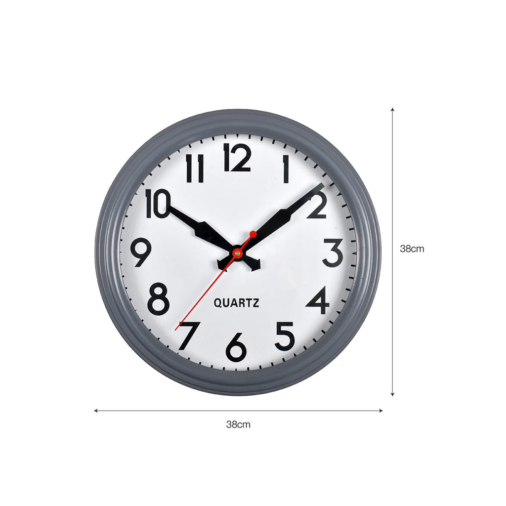 Grey Retro Wall Clock Dimensions