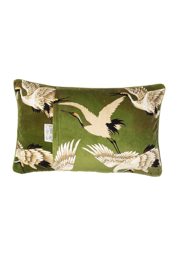 One Hundred Stars Stork Green Cushion