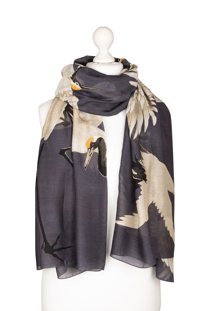One Hundred Stars Stork Scarf Charcoal