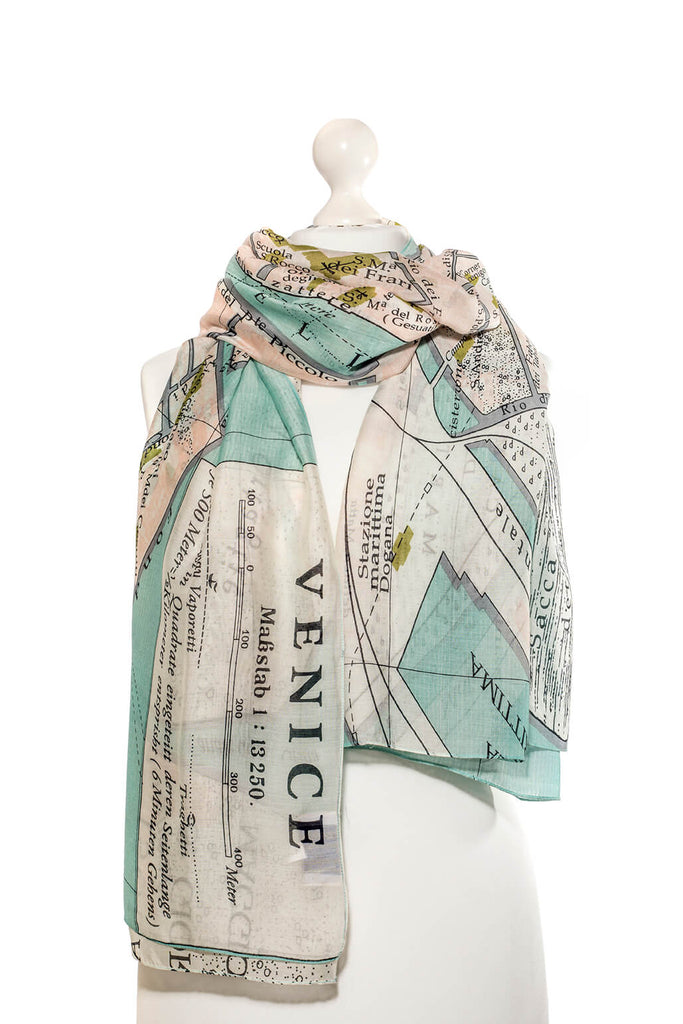 One Hundred Stars Venice Map Scarf