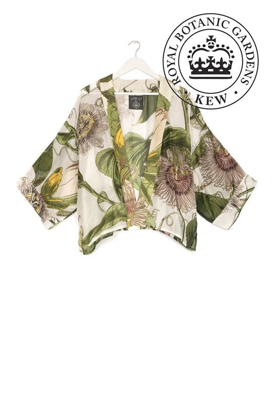 One Hundred Stars & Kew Passion Flower Kimono Ivory