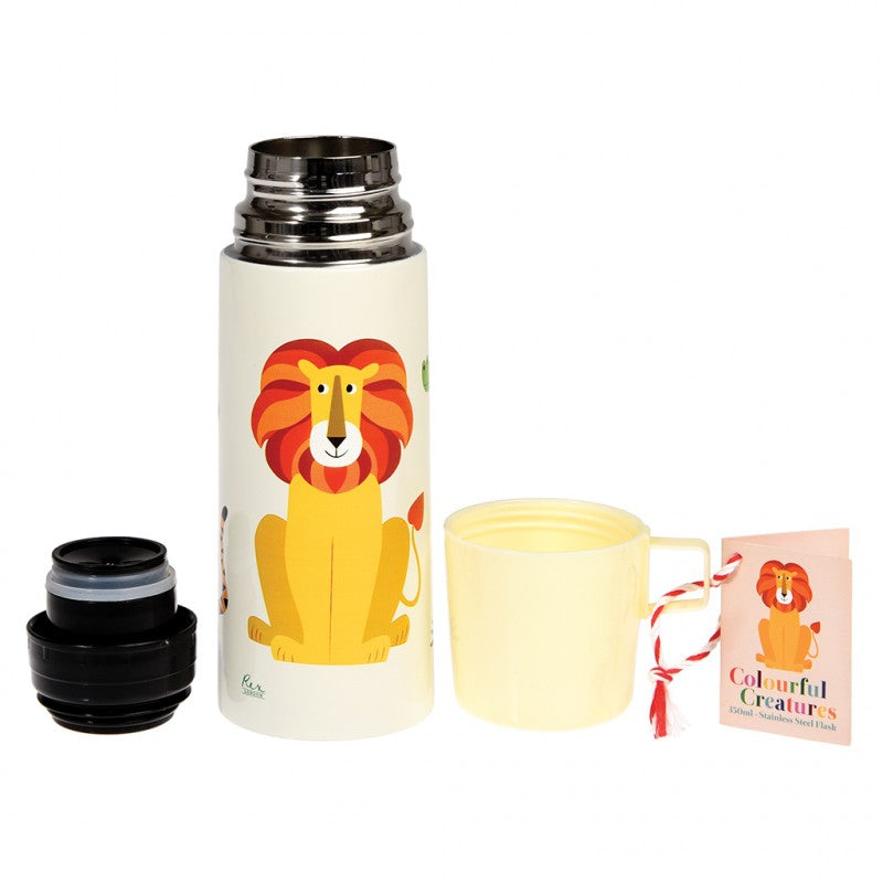 Colourful Creatures Flask And Cup