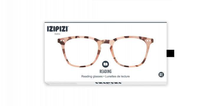 Izipizi #E Light Tortoise Reading Glasses