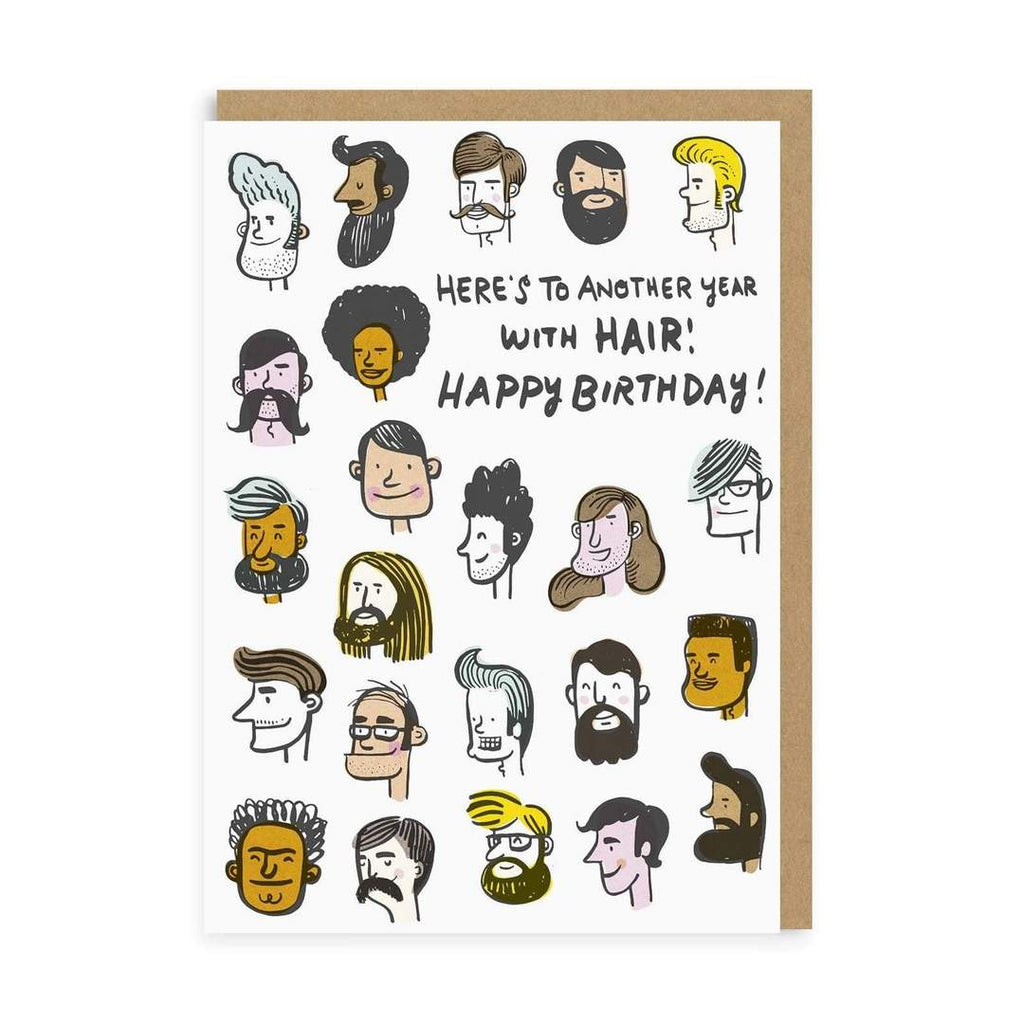 Card Here's To Another Year With Hair