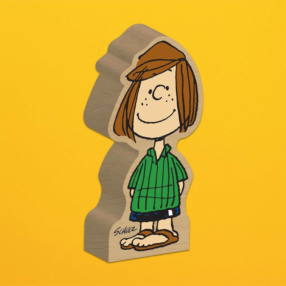 Peppermint Patty Woodblock Figure