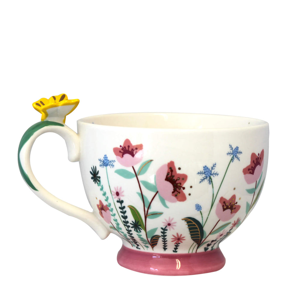 Secret Garden Flower Teacup With Gift Box